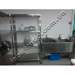 Стеллаж кухонный из нержавейки (1200х600х1800)