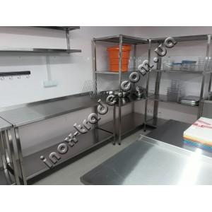 Стол производственный с бортом, без полки (800х600х850)