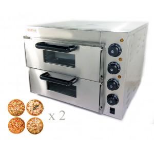GoodFood Печь для пиццы 4+4х20 электрическая PO2