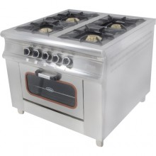 Плита 4-х конфорочная с духовым шкафом и газовым контроллером (40х40) Pimak МО15-4