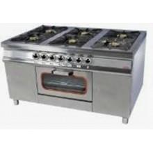Плита 6-ти конфорочная с духовым шкафом и газовым контроллером (40х40) Pimak МО15-6