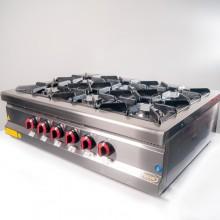 Плита 6-ти конфорочная настольная с газовым контроллером Pimak МО15-6N