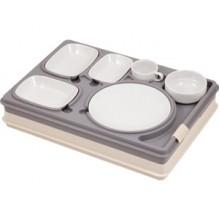 Термоподнос с замком и набором посуды Termobox Prestige