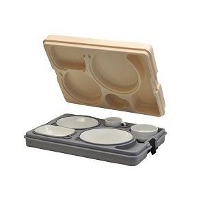 Термоподнос с замком и набором посуды Termobox Resital