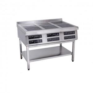 Плита индукционная Техма 6-ти конфорочная 3,5 кВт напольная (1177х900х850)