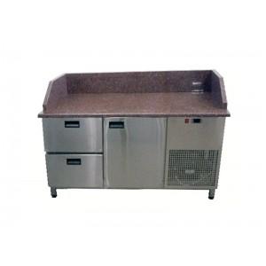 Стол для пиццы Tehma с гранитной столешницей 1 дверь + 2 ящика 3 борта