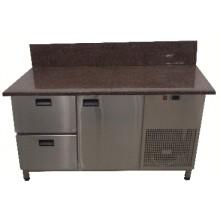 Стол для пиццы Tehma с гранитной столешницей 1 дверь + 2 ящика задний борт