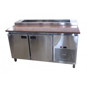 Стол холодильный саладетта Tehma с гранитной столешницей 2-х дверный
