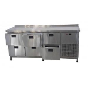 Стол холодильный Tehma 6 ящиков (1860х600х850)