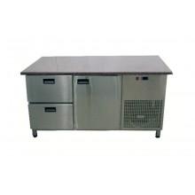 Стол для пиццы Tehma с гранитной столешницей 1 дверь + 2 ящика без борта