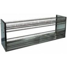 Полка-сушка для посуды 2-х уровневая Инокс Трейд / нержавеющая сталь