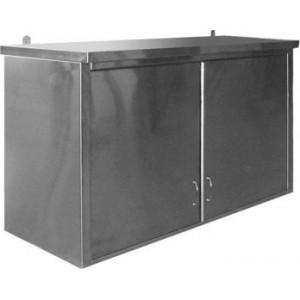 Полка навесная закрытая с распашными дверями из нержавейки (1000х300х660)