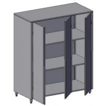 Шкаф с 3-мя распашными дверьми Инокс Трейд ШД-2
